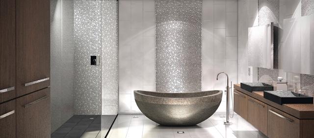 carrelage original pour salle de bains